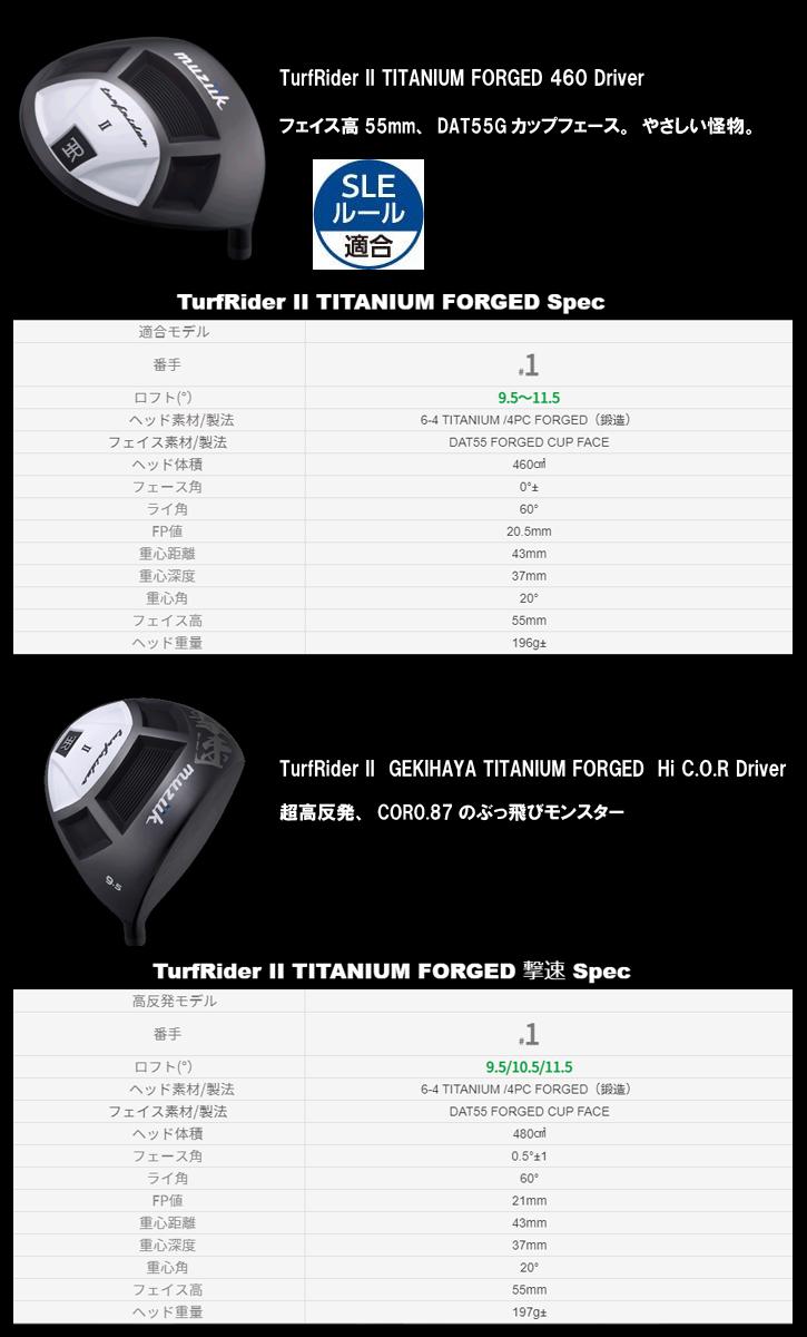 Muziik (ムジーク) TurfRider2 TITANIUM FORGED 480 撃速 ドライバー