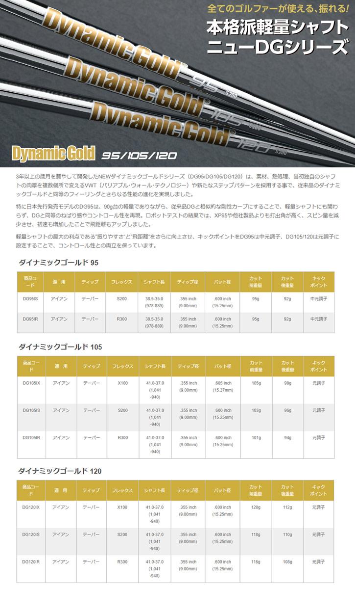 トゥルーテンパー Dynamic Gold 95/105/120