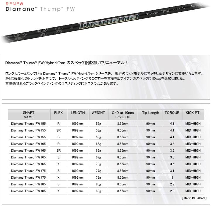 三菱レイヨン Diamana Thump FW (ディアマナ サンプ FW)