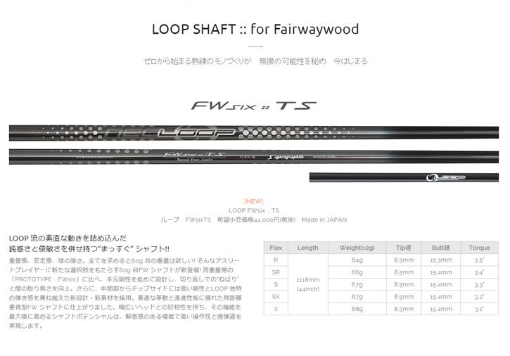 シンカグラファイト LOOP FW Six TS