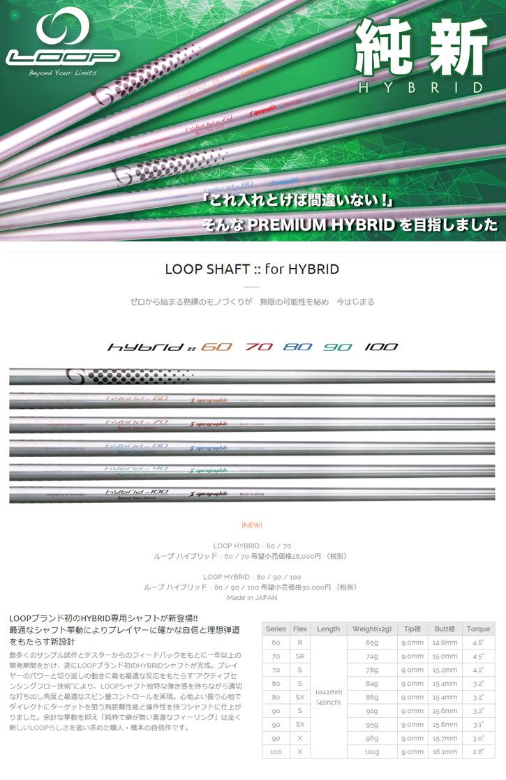シンカグラファイト LOOP HYBRID 80/90/100