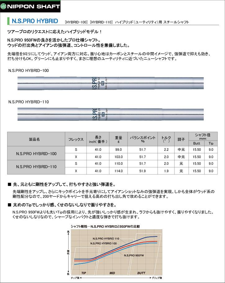日本シャフト N.S.PRO HYBRID