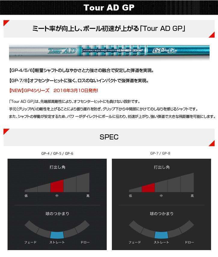 グラファイトデザイン Tour AD GP (ツアーAD GP)